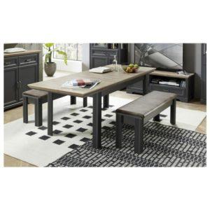 Jídelní stůl JASMIN grafit/dub artisan