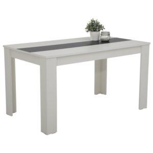 Jídelní stůl MAREIKE T bílo-černá