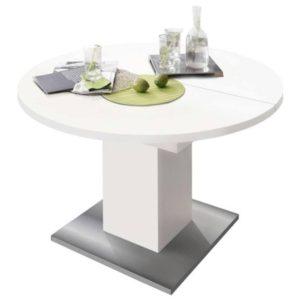 Jídelní stůl RUND 104 1010 bílá/nerez