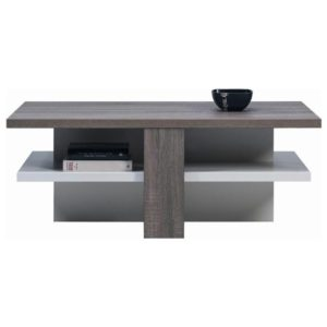 Konferenční stolek LUCY LI 16 dub sonoma truffel/bílá lesk