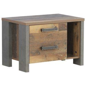 Noční stolek CLIF staré dřevo/beton