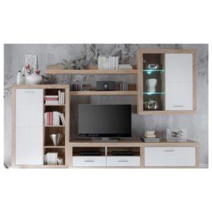Obývací stěna CANCAN dub sonoma/bílá