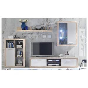 Obývací stěna SHARK dub sonoma/bílá