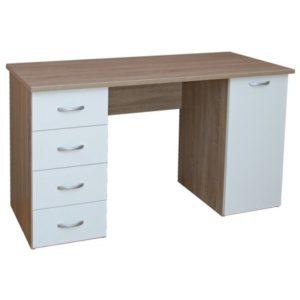 Psací stůl LADA dub sonoma/bílá