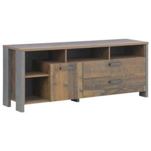 TV komoda CLIF staré dřevo/beton