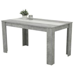 Jídelní stůl MAREIKE T beton/bílá