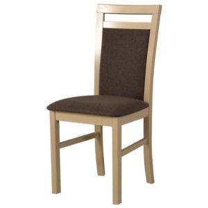 Jídelní židle MILAN 5 sonoma/hnědá