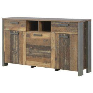 Komoda CLIF vintage wood/beton