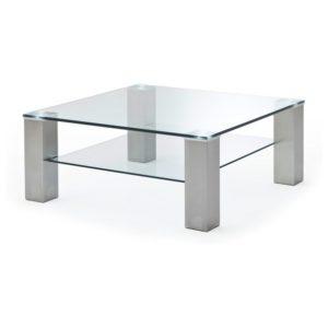 Konferenční stolek AIDAN sklo/ocel