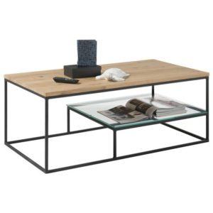 Konferenční stolek THORE dub/černá