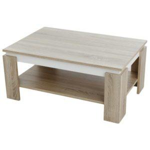 Konferenční stolek TIM II dub sonoma/bílá