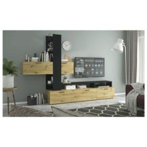 Obývací stěna EASY dub artisan/šedá