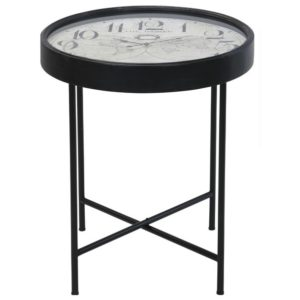Přístavný stolek CLOCK černá