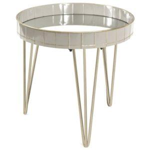 Přístavný stolek REWA 2 šedá