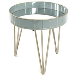 Přístavný stolek REWA 3 šedá/modrá