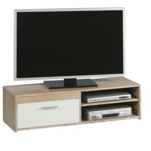 TV stolek GEMMA dub sonoma/bílá