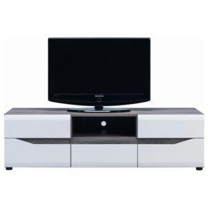 TV stolek LUCY LI 1 dub sonoma truffel/bílý lesk