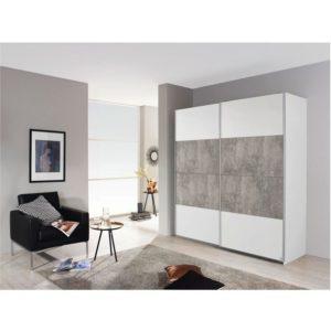 Šatní skříň MARONI alpská bílá/beton