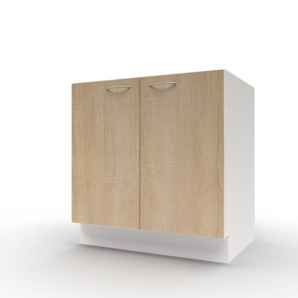 Spodní dřezová skříňka POLAR II dub sonoma/bílá