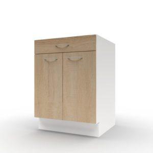 Spodní skříňka POLAR II dub sonoma/bílá