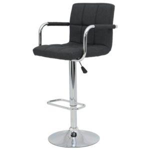 Barová židle GLORIA H černá/chrom