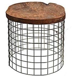 Přístavný stolek TRIEN 1 teakové dřevo/kov