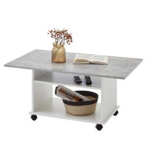 Konferenční stolek AZUR bílá/beton