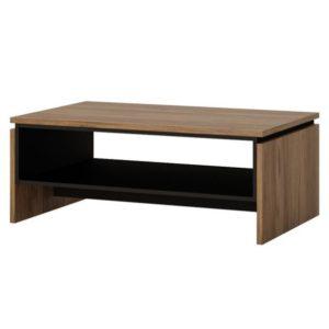 Konferenční stolek BROLO dub Catania/perleťová černá