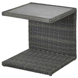 Přístavný stolek PADUA šedá