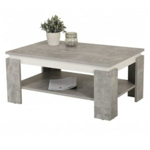 Konferenční stolek TIM II beton/bílá