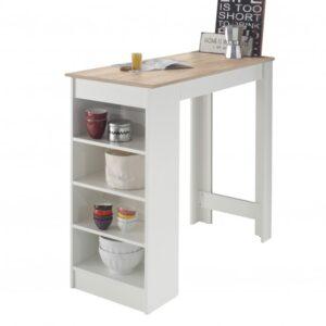 Barový stůl MOJITO dub sonoma/bílá