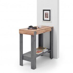 Barový stůl VELVET šedá/old style