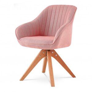 Jídelní židle CHIP I růžová/buk