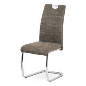 Jídelní židle ZOEY hnědá/kov