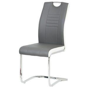 Jídelní židle ASHLEY bílo-šedá