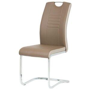 Jídelní židle ASHLEY hnědo-béžová