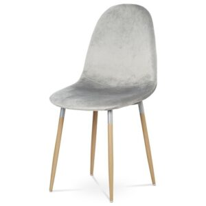 Jídelní židle COURTNEY stříbrná/buk