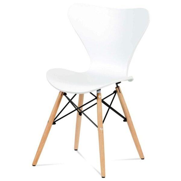 Jídelní židle DARINA bílá/buk
