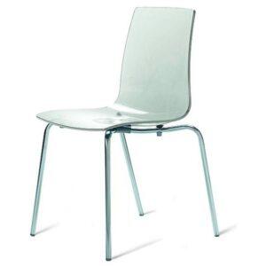 Jídelní židle LOLLIPOP průhledná
