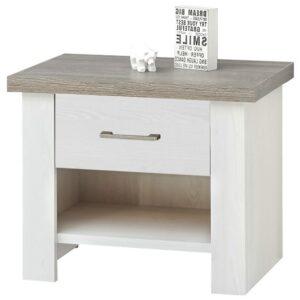 Noční stolek PARVATI pinie bílá/dub truffel