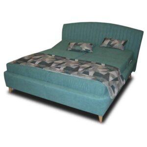 Polohovací postel SHELLY tyrkysová