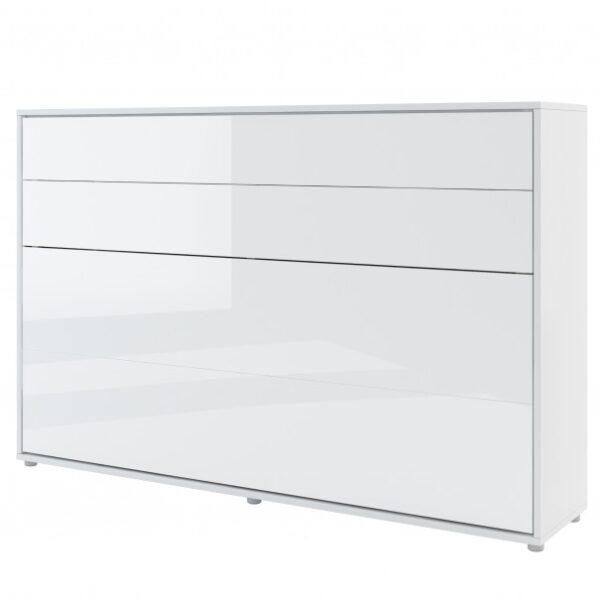 Postel BED CONCEPT 2 bílá/vysoký lesk