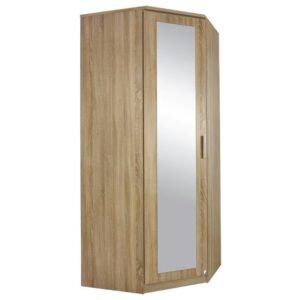 Rohová šatní skříň AULIN dub sonoma