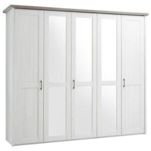 Šatní skříň PARVATI bílá