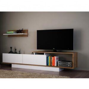 TV stěna ASOS ořech/bílá