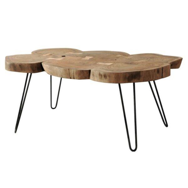 Konferenční stolek BOMBAY přírodní palisandr/černá