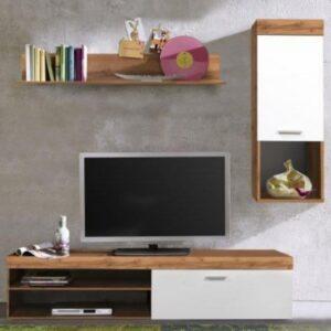 Obývací stěna BOOM dub wotan/bílá