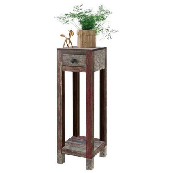 Přístavný stolek GOA mangovník/akácie/kovové aplikace