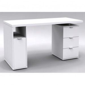 Psací stůl COLE bílá lesklá