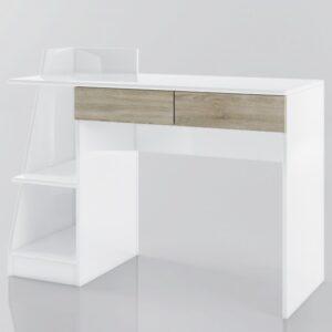Psací stůl SMART bílá/dub sonoma